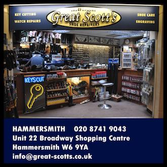 GREAT SCOTTS HAMMERSMITH – 020 8741 9043  Unit 22, Hammersmith Broadway Shopping Centre, Hammersmith, London, W6 9YA.